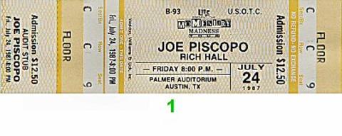 Joe PiscopoVintage Ticket