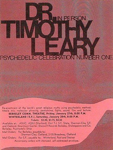 Timothy LearyHandbill