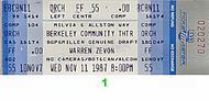 Warren Zevon1980s Ticket