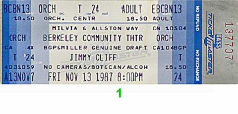 Jimmy Cliff Vintage Ticket