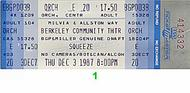 Squeeze1980s Ticket