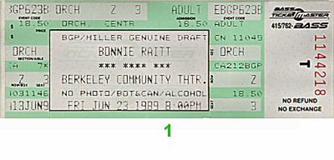 Bonnie RaittVintage Ticket