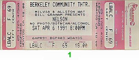 Nelson Vintage Ticket