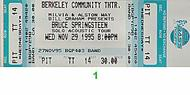 Bruce Springsteen 1990s Ticket