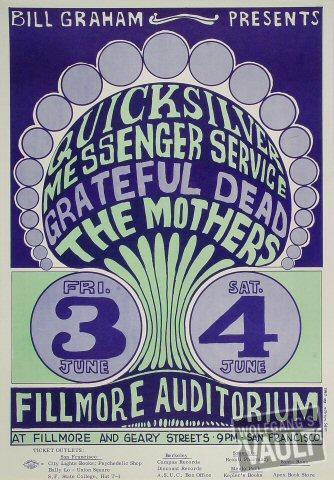 Quicksilver Messenger ServicePoster from Jun 3, 1966