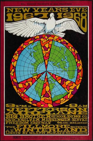Jefferson Airplane Poster from Dec 31, 1967