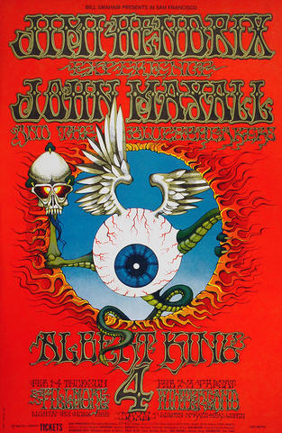 Jimi Hendrix Experience Poster from Feb 1, 1968