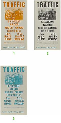Traffic Vintage Ticket