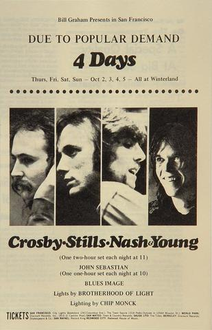 Crosby, Stills, Nash &amp; YoungProgram