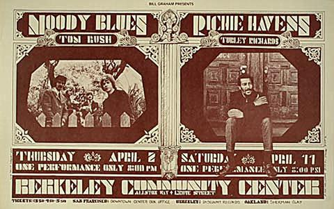 The Moody Blues Handbill