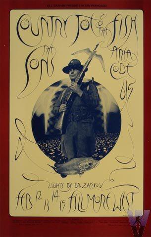 Country Joe & the FishPostcard