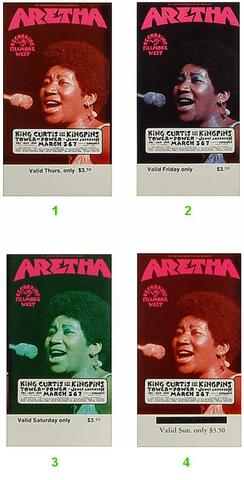 Aretha Franklin Vintage Ticket