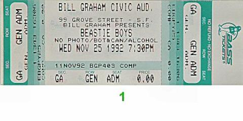 Beastie BoysVintage Ticket