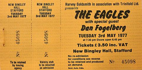 The EaglesVintage Ticket