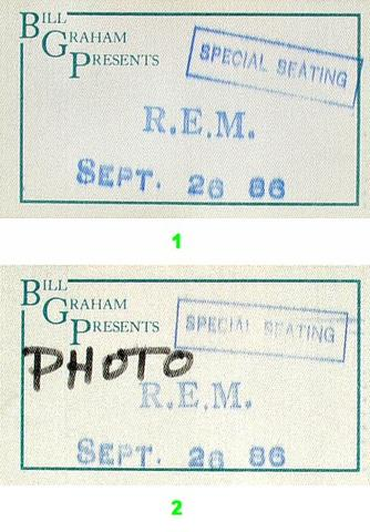 R.E.M.Backstage Pass