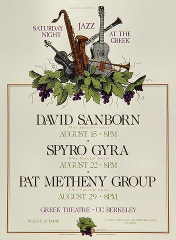 David Sanborn Handbill