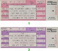 Paul McCartney 1990s Ticket