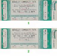 Sting 1990s Ticket