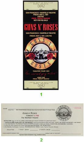 Guns N' RosesVintage Ticket