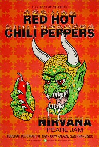 Red Hot Chili Peppers Poster from Dec 31, 1991