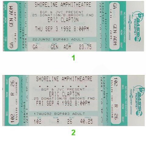 Eric ClaptonVintage Ticket