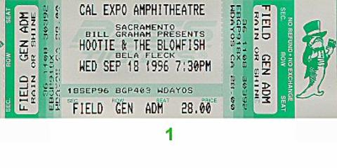 Hootie & the Blowfish Vintage Ticket