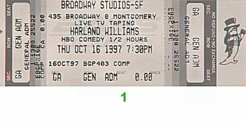 Kathleen Madigan Vintage Ticket