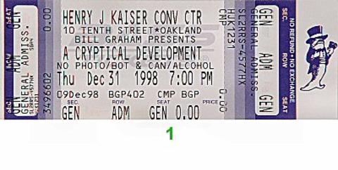 RatDog Vintage Ticket