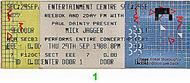 Mick Jagger1980s Ticket