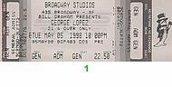 George Lopez 1990s Ticket
