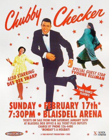 Chubby Checker Handbill