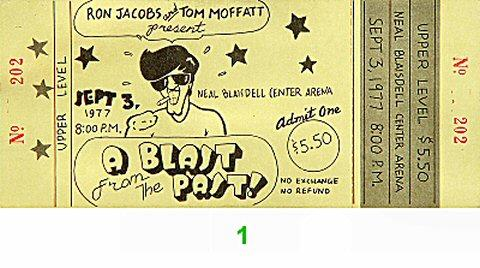 A Blast From the Past Vintage Ticket