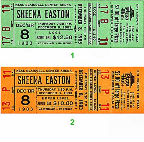 Sheena Easton Vintage Ticket