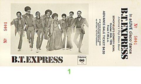 B.T. ExpressVintage Ticket