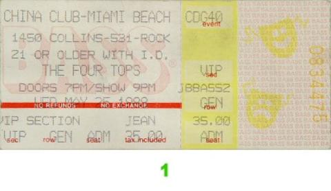 The Four TopsVintage Ticket