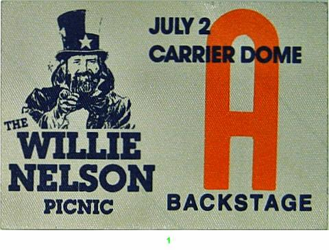 Willie Nelson Backstage Pass