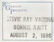 Stevie Ray VaughanBackstage Pass