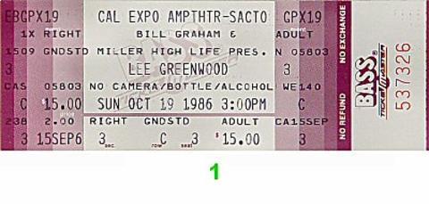 Lee GreenwoodVintage Ticket