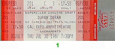Duran DuranVintage Ticket