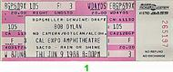 Bob Dylan 1980s Ticket