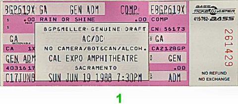 AC/DCVintage Ticket