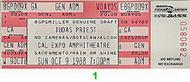Judas Priest 1980s Ticket