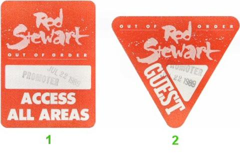 Rod Stewart Backstage Pass