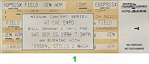 Crosby, Stills & Nash Vintage Ticket