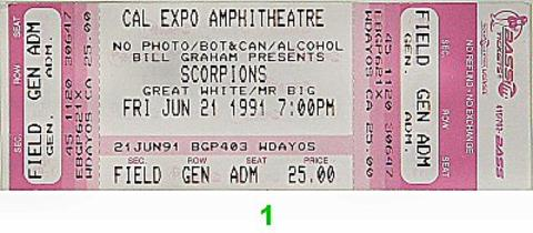 ScorpionsVintage Ticket