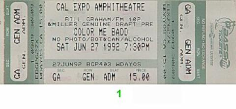 Color Me Badd Vintage Ticket
