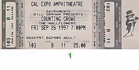 Counting Crows Vintage Ticket