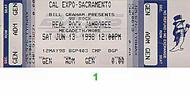 Megadeth 1990s Ticket