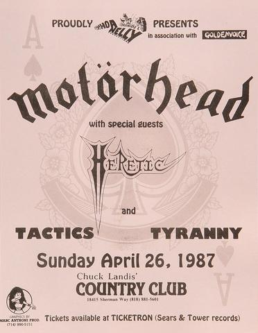 MotorheadHandbill