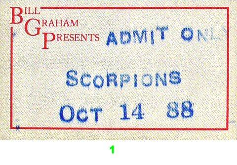ScorpionsBackstage Pass